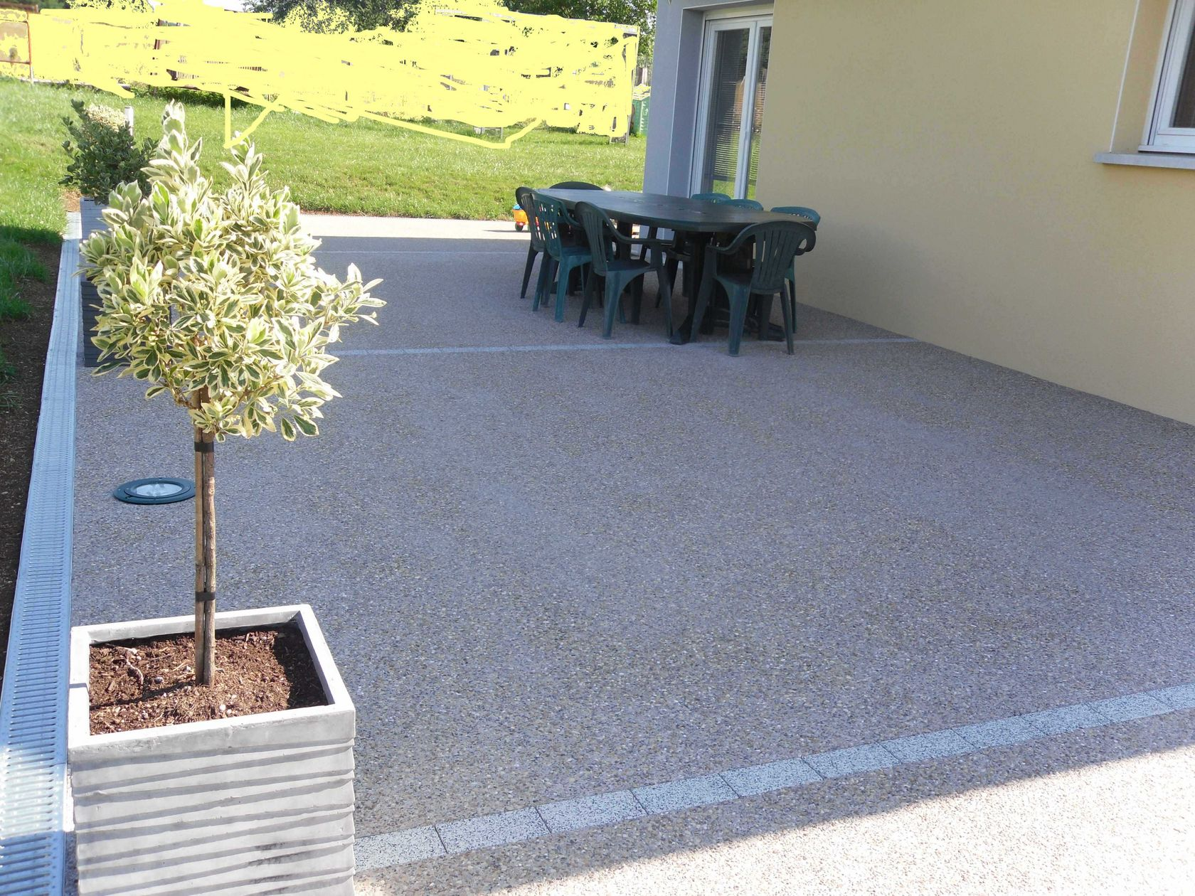 Terrasse en b ton d sactiv for Terrasse suspendue beton photo