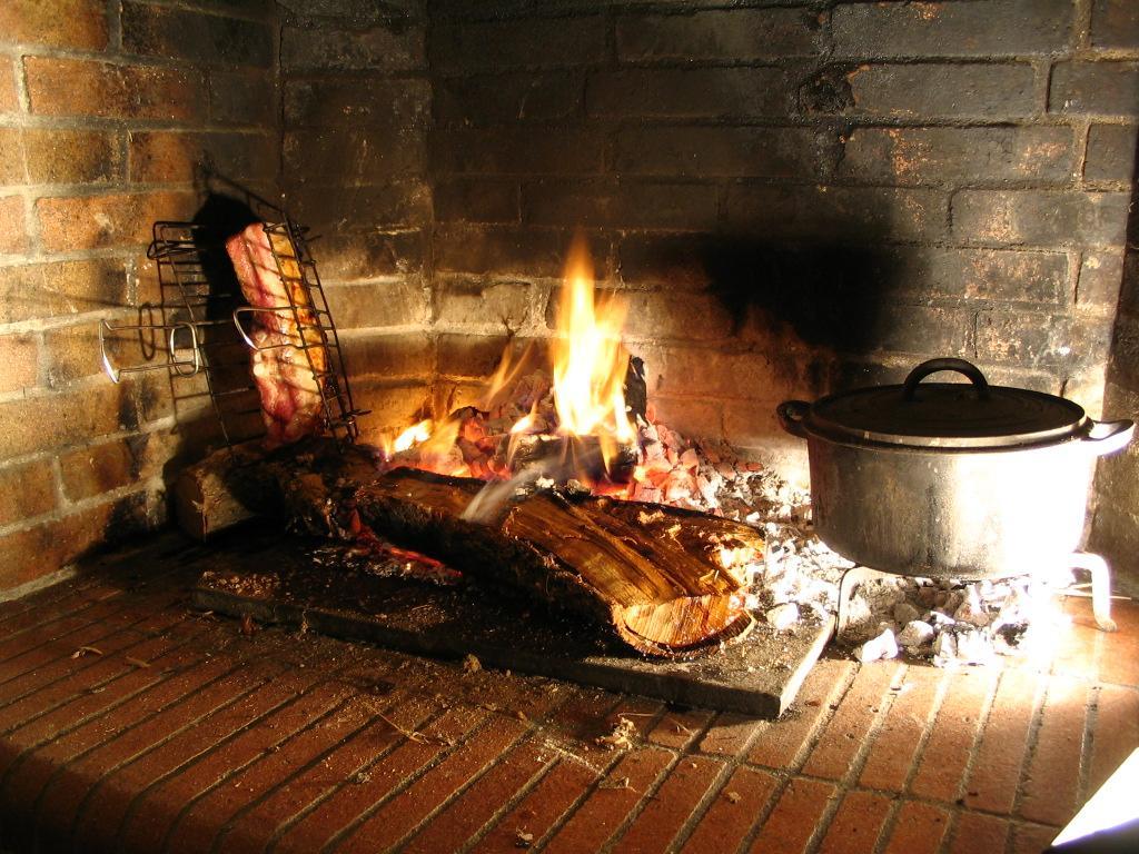 Plat de c tes la cheminee la cachina for Cheminee feu de bois