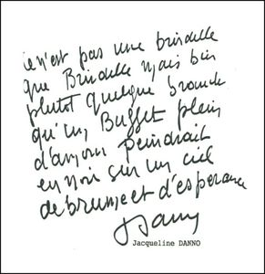 Brindille - Dédicace Jacqueline Danno