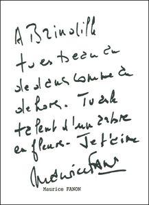 Brindille - Dédicace Maurice Fanon
